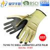 перчатка работы безопасности ладони латекса 7g/10g T/C прокатанная раковиной (S1301) с CE, En388, En420 для перчаток пользы конструкции