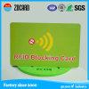 Protector de la tarjeta de crédito RFID de Cr80 85.5*54m m que bloquea el coche