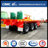 SKD Form 40FT Flatbed Semi Trailer Exported (容器で)