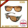 Óculos de proteção de trabalhador dos vidros de segurança de Sg69 Warparound