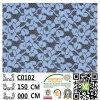 Tissu C0102 de lacet de polyester d'accessoires de vêtement