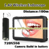 5.0inch Wireless Camera Endoscope DVR, com 0.01lux Wireless Camera, Distance 100m, Build em Battery, com Nightvision (TE-810H)