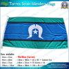 Le drapeau d'insulaires de détroit de Torres, Australie énonce les drapeaux (NF05F09050)