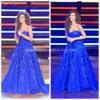 Os vestidos de esfera do querido Applique os vestidos de noite formais azuis Y2025 do partido