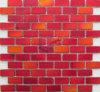 涼しい舗装の赤い水晶マットの表面煉瓦ガラスモザイク(CFC612)