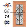 Porte en verre en acier de fleur décorative compliquée (W-GD-05)
