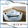 Banheira branca de canto da massagem do Whirlpool (AB0840)