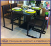 4 Chairs를 가진 타이란드 Elegant MDF Modern Wooden Home 또는 Restaurant Dining Set Black Dining Table Furniture
