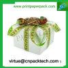 아름다운 색깔에 의하여 주문을 받아서 만들어지는 존재하는 리본 종이 선물 상자