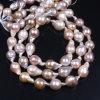 Перла пурпуровой стренги перлы Keshi заново родившийся садит барочное ожерелье на мель перлы
