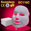Venda por atacado 7 1 máscara facial do diodo emissor de luz para o cuidado de pele facial