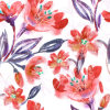 Tela alaranjada da impressão da flor para o Swimwear (ASQ083)