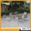 Silla al aire libre y vector de cena de Aluminumm del acero inoxidable del metal de los muebles fijados para el restaurante