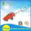 Trousseau de clés rouge de camion en matériau en métal pour le souvenir