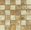 Mosaico del vidrio cristalino del azulejo de mosaico de la hoja de oro (HGM235)