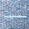 長方形の淡いブルーのガラスモザイクコレクション