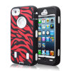 Hot noir Red Zebra Impact Black combiné Point de droit Cover pour l'iPhone 5 5g +Screen Protector
