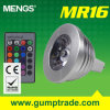 Mengs® MR16 3W RGB Dimmable LED Bulb with CE RoHS SMD 2 Years' Warranty, 16 Colour, IR Remote Control (11018001400)