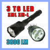 CREE Xml T6 3LED Super Bright Police LED Flashlight di SOS Rescuing 5 Modes