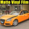 Matt Black and Orange Car Color Change Foil