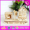 Hight-Grade 2015 Wooden Music Box Toy para Sale, Beautiful Design Mediterranean Style Windmill Wooden Music Box W02A032