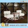 مربّعة بيضاء فروة وسط شرقيّة ألومنيوم يعيش غرفة كرسي تثبيت