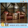 فندق عادية ردهة معدن جلد يعيش غرفة كرسي تثبيت