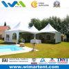 PVC Spring Top Tent Setup 5mx5m Aluminum Structure на Swimming Pool