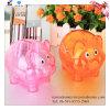 Banco de moneda animal de la forma de la forma plástica transparente del cerdo para la promoción