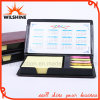 Libretas pegajosas modificadas para requisitos particulares de la cubierta de la PU con el calendario para el regalo (PN246)