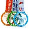 Medaglia Colourful su ordinazione di maratona di filatura di metallo