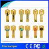 Klassisches Schlüssel USB-Blitz-Großhandelslaufwerk mit Silk Firmenzeichen-Drucken