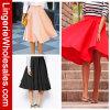 Falda de la Rodilla-Longitud de tres de los colores colores sólidos de las mujeres