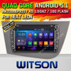 Carro DVD do Android 5.1 de Witson para o assento Leon (W2-F9240EL) com a pia batismal DVR P do Internet da ROM WiFi 3G de Rockchip 3188 1080P 16g do núcleo do quadrilátero