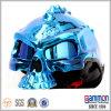 輝やきBlue Cool Skull Type Motorcycle Helmet (HF302)