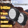 Nieuwe IP68 Waterproof 7inch 140W Round LED Driving Light voor van Road ATV Boat Truck