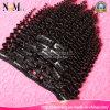 Clip rizado rizado de la Virgen del Afro brasileño del pelo humano en extensiones del pelo