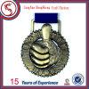 Médaille de encadrement blanc de sport en métal de sport