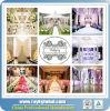 Luxuxqualitäts-Rohr und drapieren roten Hintergrund für Wedding&Events