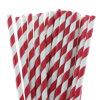 Partido Paper Straw 25PCS Colorful Red Striped Drink Straws el 19.7cm para Wedding Festival y Celebración de días festivos Supply