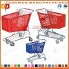 Chariot en plastique à achats de supermarché de mode (Zht29)