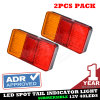 12V LED Tail Stop Brake Lamp Indicator Truck Trailer Light 106