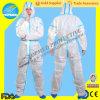 Wasserdichtes Overall-Schutzkleidung pp. PET wegwerfbarer Plastikoverall