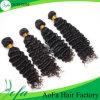 extensão brasileira do cabelo humano do cabelo de Remy da onda profunda da classe 7A