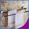Staven van de Handdoek van het Messing van de Badkamers van de Basis van Fyeer de Ceramische Zwarte Bijkomende Dubbele