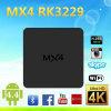 Couler futé androïde de la boîte Rk3229 Mx4 de la qualité TV fait dans la boîte androïde du noyau TV de quadruple de Kodi de boîte de la Chine TV