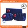 Neue Produkt-blauer Samt mit purpurrotem Rosen-Samt-Kosmetik-Beutel