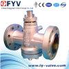 Válvula de plugue equilibrada invertida da pressão do selo do óleo