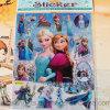 Etiqueta engomada congelada etiquetas engomadas estampada hoja del juguete de la historieta para los cabritos