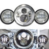 ランドローバーのジープCj/Wrangler Jk LEDのドライビング・ライトのためのランプを渡す7  LEDプロジェクターオートバイヘッドライトDaymaker + 4.5 の霧